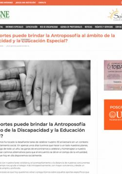 Que aporte puede brindar la antroposofía en el ámbito de la discapacidad y la educación especial