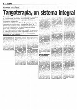 Tangoterapia, un sistema integral reconocido mundialmente