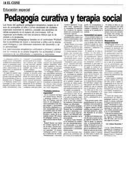 Pedagogía curativa y terapia social
