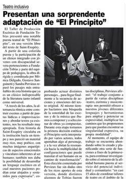 Presentación del Principito Teatro Inclusivo